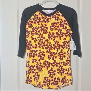 LulaRoe Randy Shirt, Floral Blossom Print